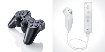 PS3 and Wii controllers