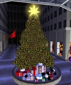 Rockefeller Christmas Tree in Second Life (courtesy of Aimee Weber / SecondLifeInsider.com