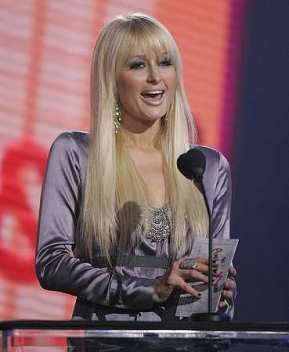Paris Hilton at the AMA awards (AP)