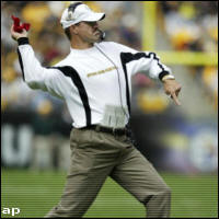 Cowher throws the challenge flag