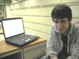 Ben Gross at the desk