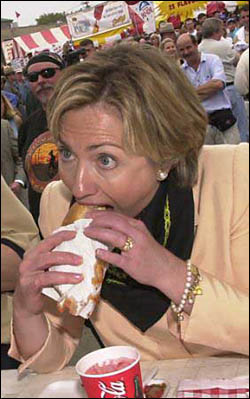 Clinton eats
