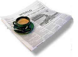 newspaper and coffee