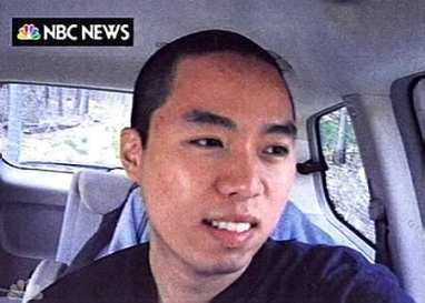Cho in SUV between killings (AP/NBC News)