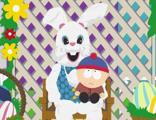 Stan with bunny (South Park/Comedy Central)