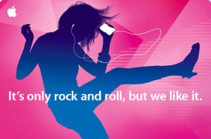 "For Apple, ""It's only Rock and Roll..."""
